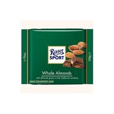 شکلات 100 گرمی ریتر اسپرت (Ritter sport) سبز - بادام