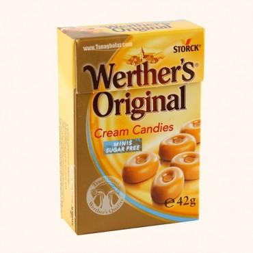 آبنبات 42 گرمی بدون قند خامه ای وردرز اوریجینال