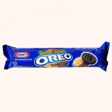 بیسکویت کرمدار OREO دو رنگ کره بادام زمینی و کرم شکلات