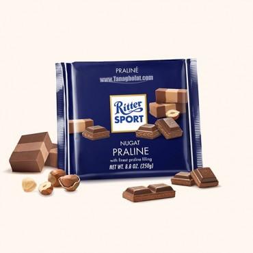 شکلات 250 گرمی ریتر اسپرت (Ritter sport) آبی تیره - پارالین