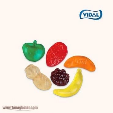 پاستیل 100 گرمی بدون گلوتن ویدال مدل مخلوط میوه ای