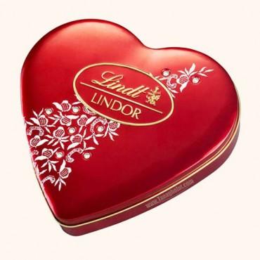 شکلات کادویی قلبی 212 گرمی لینت مدل لیندور