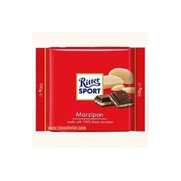 شکلات 100 گرمی ریتر اسپرت (Ritter sport) قرمز - مرزیپن