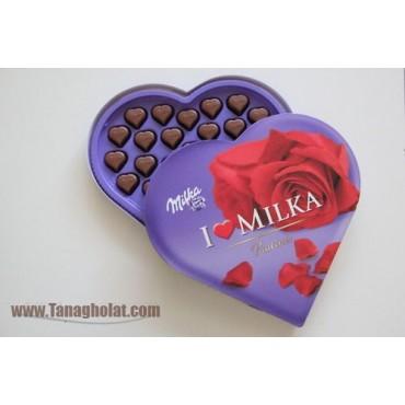 شکلات کادویی میلکا مدل قلبی